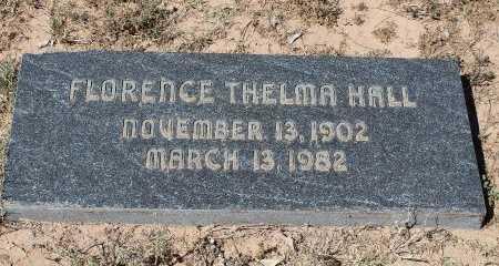 HALL, FLORENCE THELMA - Howard County, Texas   FLORENCE THELMA HALL - Texas Gravestone Photos