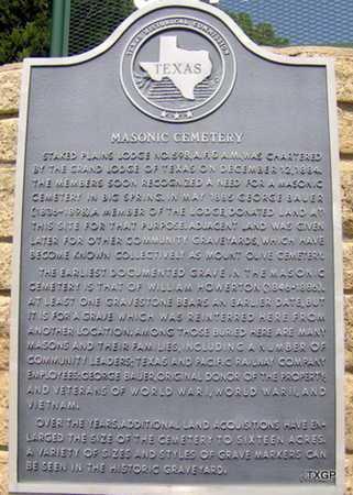 *HISTORIC MARKER,  - Howard County, Texas |  *HISTORIC MARKER - Texas Gravestone Photos