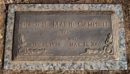 """CAMPBELL, DELORSE MARIE """"PAT"""" - Hutchinson County, Texas 