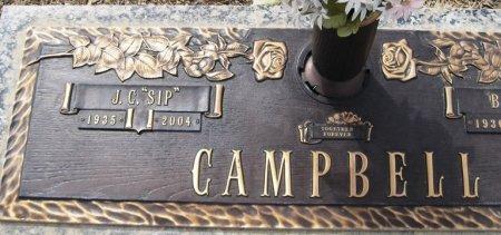 "CAMPBELL, J.C. ""SIP"" (CLOSEUP) - Hutchinson County, Texas | J.C. ""SIP"" (CLOSEUP) CAMPBELL - Texas Gravestone Photos"