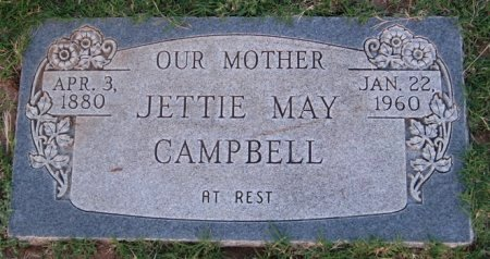 CAMPBELL, JETTIE MAY - Hutchinson County, Texas | JETTIE MAY CAMPBELL - Texas Gravestone Photos