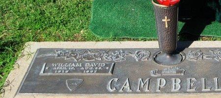 CAMPBELL, WILLIAM DAVID - Hutchinson County, Texas | WILLIAM DAVID CAMPBELL - Texas Gravestone Photos
