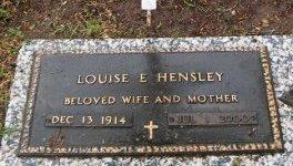 HENSLEY, LOUISE E. - Hutchinson County, Texas | LOUISE E. HENSLEY - Texas Gravestone Photos