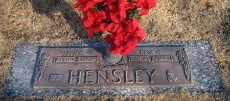 HENSLEY, VELMA V. - Hutchinson County, Texas | VELMA V. HENSLEY - Texas Gravestone Photos