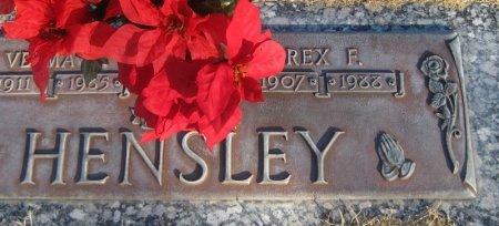 HENSLEY, REX F. (CLOSEUP) - Hutchinson County, Texas | REX F. (CLOSEUP) HENSLEY - Texas Gravestone Photos