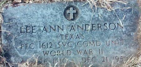 ANDERSON, LEE ANN - Jack County, Texas   LEE ANN ANDERSON - Texas Gravestone Photos