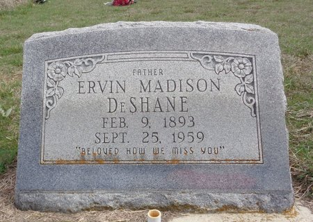 DESHANE, ERVINE MADISON - Jack County, Texas | ERVINE MADISON DESHANE - Texas Gravestone Photos