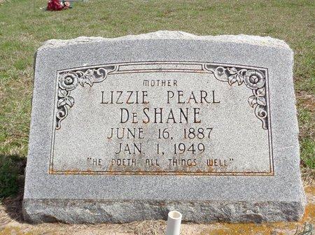 DESHANE, LIZZIE PEARL - Jack County, Texas | LIZZIE PEARL DESHANE - Texas Gravestone Photos