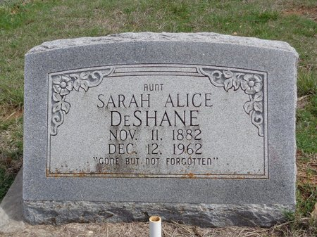 DESHANE, SARAH ALICE - Jack County, Texas | SARAH ALICE DESHANE - Texas Gravestone Photos
