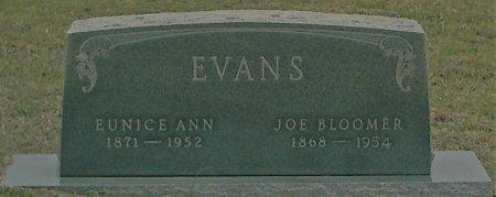 EVANS, JOE BLOOMER - Jack County, Texas | JOE BLOOMER EVANS - Texas Gravestone Photos