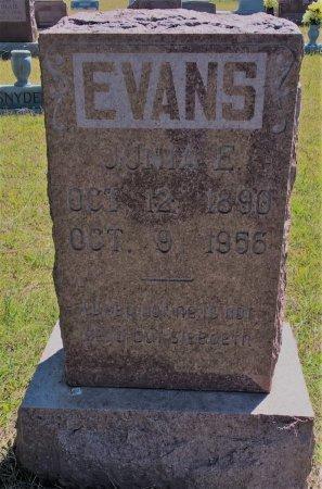 EVANS, JUNIA EDWARD - Jack County, Texas | JUNIA EDWARD EVANS - Texas Gravestone Photos