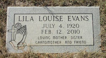 EVANS, LILA LOUISE - Jack County, Texas | LILA LOUISE EVANS - Texas Gravestone Photos