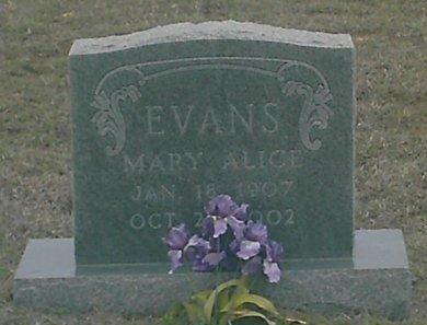 EVANS, MARY ALICE - Jack County, Texas | MARY ALICE EVANS - Texas Gravestone Photos