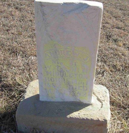 MIDDLETON, ANDREW J. - Jack County, Texas | ANDREW J. MIDDLETON - Texas Gravestone Photos