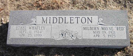 "MIDDLETON, MILBURN WAYNE ""RED"" - Jack County, Texas 