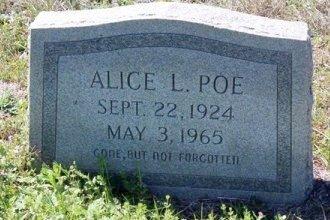 POE, ALICE LEE - Jackson County, Texas | ALICE LEE POE - Texas Gravestone Photos