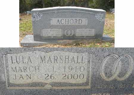 ACHORD, LULA - Jasper County, Texas | LULA ACHORD - Texas Gravestone Photos