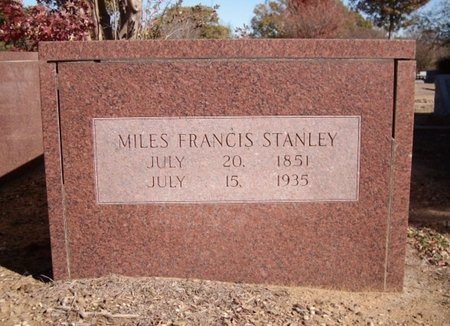 STANLEY, MILES FRANCIS - Johnson County, Texas | MILES FRANCIS STANLEY - Texas Gravestone Photos