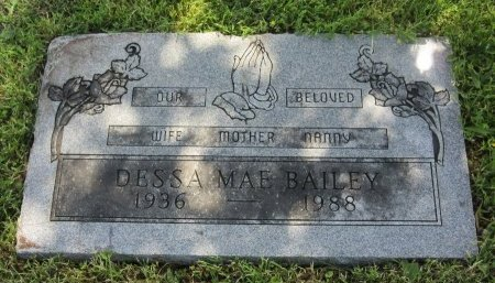BAILEY, DESSA MAE - Johnson County, Texas | DESSA MAE BAILEY - Texas Gravestone Photos