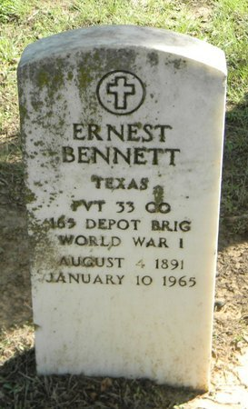 BENNETT (VETERAN WWI), ERNEST - Johnson County, Texas | ERNEST BENNETT (VETERAN WWI) - Texas Gravestone Photos