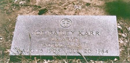 KARR (VETERAM WWII), JOE BAILEY - Johnson County, Texas | JOE BAILEY KARR (VETERAM WWII) - Texas Gravestone Photos
