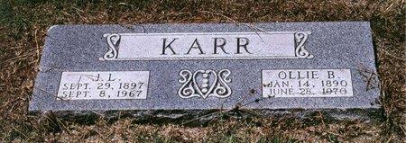KARR, OLLIE B - Johnson County, Texas | OLLIE B KARR - Texas Gravestone Photos