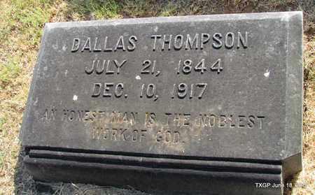 THOMPSON, DALLAS - Johnson County, Texas | DALLAS THOMPSON - Texas Gravestone Photos
