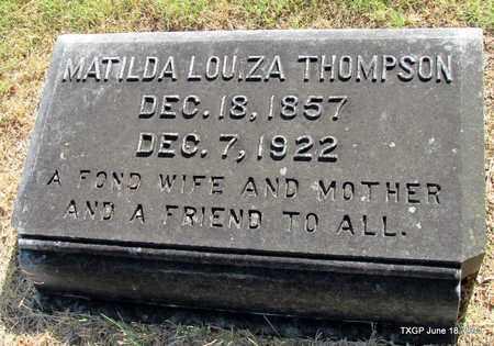 THOMPSON, MATILDA LOUIZA - Johnson County, Texas | MATILDA LOUIZA THOMPSON - Texas Gravestone Photos