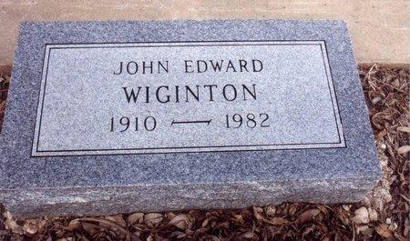 WIGINTON, JOHN - Johnson County, Texas | JOHN WIGINTON - Texas Gravestone Photos
