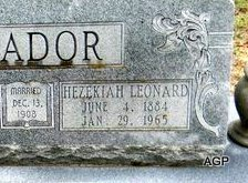 MEADOR, HEZEKIAH LEONARD (CLOSEUP) - Johnson County, Texas | HEZEKIAH LEONARD (CLOSEUP) MEADOR - Texas Gravestone Photos