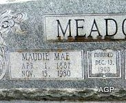 BOWLES MEADOR, MAUDIE MAE - Johnson County, Texas | MAUDIE MAE BOWLES MEADOR - Texas Gravestone Photos