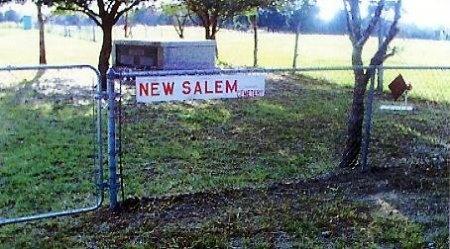 *NEW SALEM ENTRANCE,  - Kaufman County, Texas    *NEW SALEM ENTRANCE - Texas Gravestone Photos