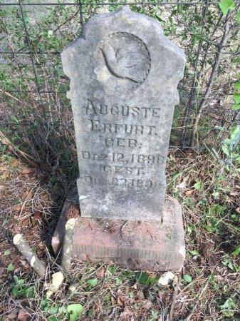 ERFURT, AUGUSTE - Kendall County, Texas | AUGUSTE ERFURT - Texas Gravestone Photos