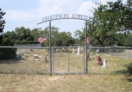 *KREUTZBERG OVERVIEW,  - Kendall County, Texas    *KREUTZBERG OVERVIEW - Texas Gravestone Photos