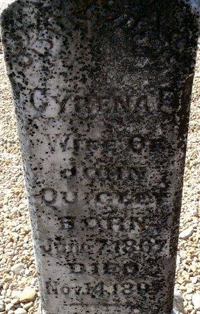 INSALL QUIGLEY, CYRENA FRANCIS (CLOSE UP) - Kendall County, Texas | CYRENA FRANCIS (CLOSE UP) INSALL QUIGLEY - Texas Gravestone Photos