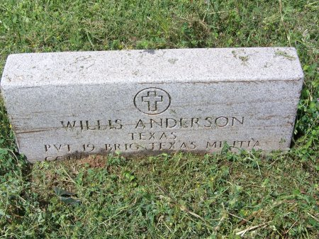 ANDERSON (VETERAN CSA), WILLIS - Kimble County, Texas | WILLIS ANDERSON (VETERAN CSA) - Texas Gravestone Photos