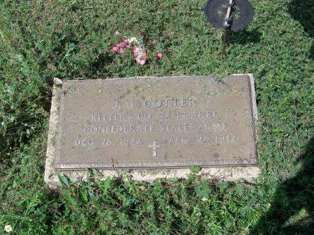 COTTER (VETERAN CSA), J. J. - Kimble County, Texas | J. J. COTTER (VETERAN CSA) - Texas Gravestone Photos