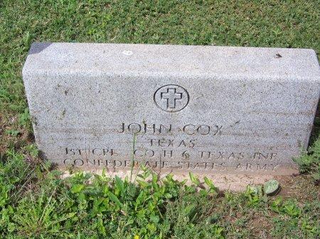 COX  (VETERAN CSA), JOHN - Kimble County, Texas | JOHN COX  (VETERAN CSA) - Texas Gravestone Photos