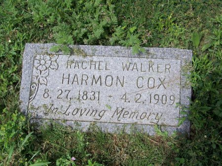 HARMON COX, RACHEL WALKER - Kimble County, Texas | RACHEL WALKER HARMON COX - Texas Gravestone Photos