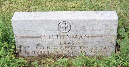 DENMAN (VETERAN CSA), C C - Kimble County, Texas | C C DENMAN (VETERAN CSA) - Texas Gravestone Photos