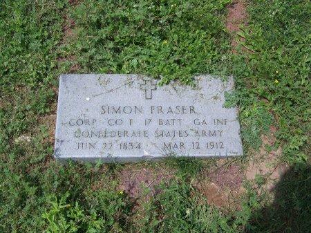 FRASER (VETERAN CSA), SIMON - Kimble County, Texas   SIMON FRASER (VETERAN CSA) - Texas Gravestone Photos