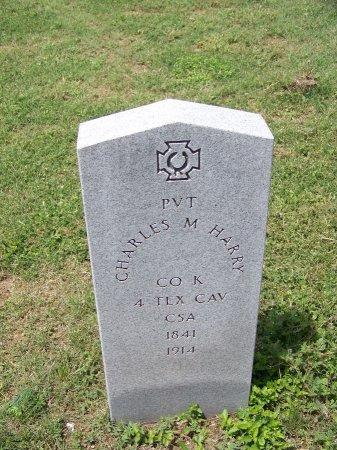 HARRY (VETERAN CSA), CHARLES M. - Kimble County, Texas   CHARLES M. HARRY (VETERAN CSA) - Texas Gravestone Photos