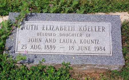 KOELLER, RUTH ELIZABETH - Kimble County, Texas | RUTH ELIZABETH KOELLER - Texas Gravestone Photos
