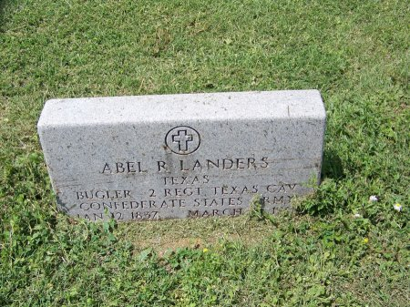 LANDERS (VETERAN CSA), ABEL R. - Kimble County, Texas | ABEL R. LANDERS (VETERAN CSA) - Texas Gravestone Photos
