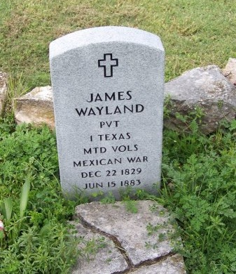 WAYLAND (VETERAN MAW), JAMES - Kimble County, Texas | JAMES WAYLAND (VETERAN MAW) - Texas Gravestone Photos