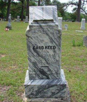 REED (VETERAN CSA), GARD - Lamar County, Texas | GARD REED (VETERAN CSA) - Texas Gravestone Photos