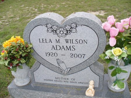 WILSON ADAMS, LELA M - Lampasas County, Texas   LELA M WILSON ADAMS - Texas Gravestone Photos