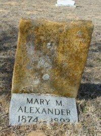 ALEXANDER, MARY MARANDA - Lampasas County, Texas | MARY MARANDA ALEXANDER - Texas Gravestone Photos