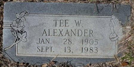 "ALEXANDER, TECUMSEH W. ""TEE"" - Lampasas County, Texas | TECUMSEH W. ""TEE"" ALEXANDER - Texas Gravestone Photos"