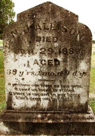 """ALLISON, NOAH JAMES """"N. J."""" - Lampasas County, Texas   NOAH JAMES """"N. J."""" ALLISON - Texas Gravestone Photos"""